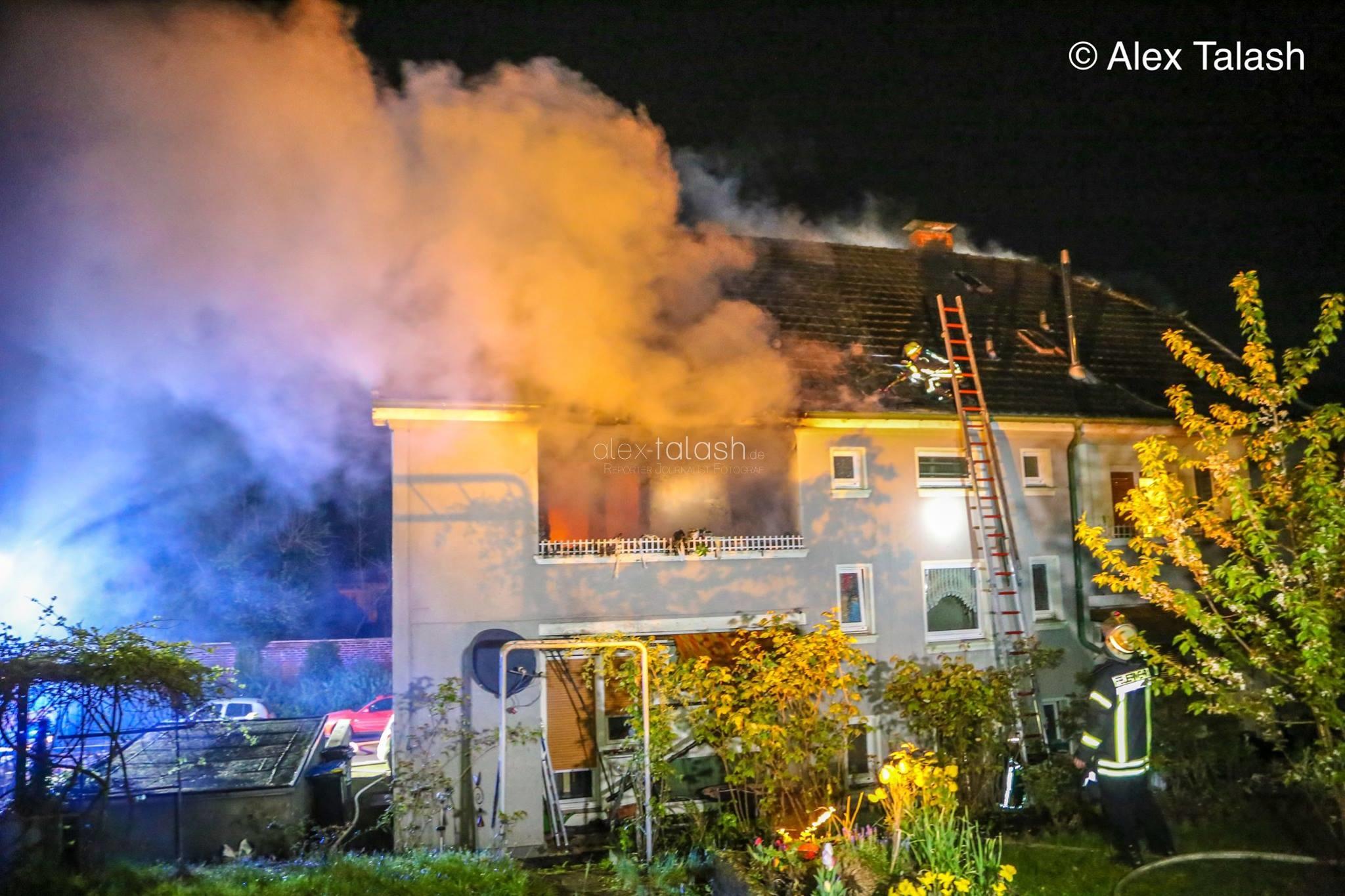 Rettung aus brennender Wohnung