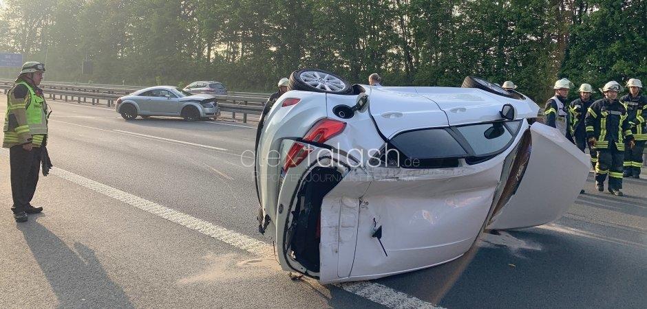 Unfall mit drei Verletzten auf A46 in Hagen