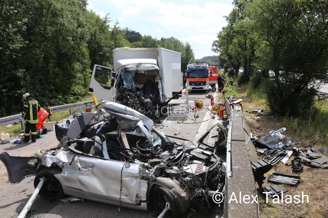 Schwerer Unfall auf der A45