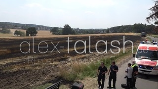 Getreidefeld in Witten gerät auf 2000 Quadratmetern in Flammen