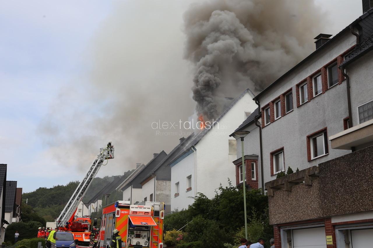 Dachstuhlbrand in Hagen