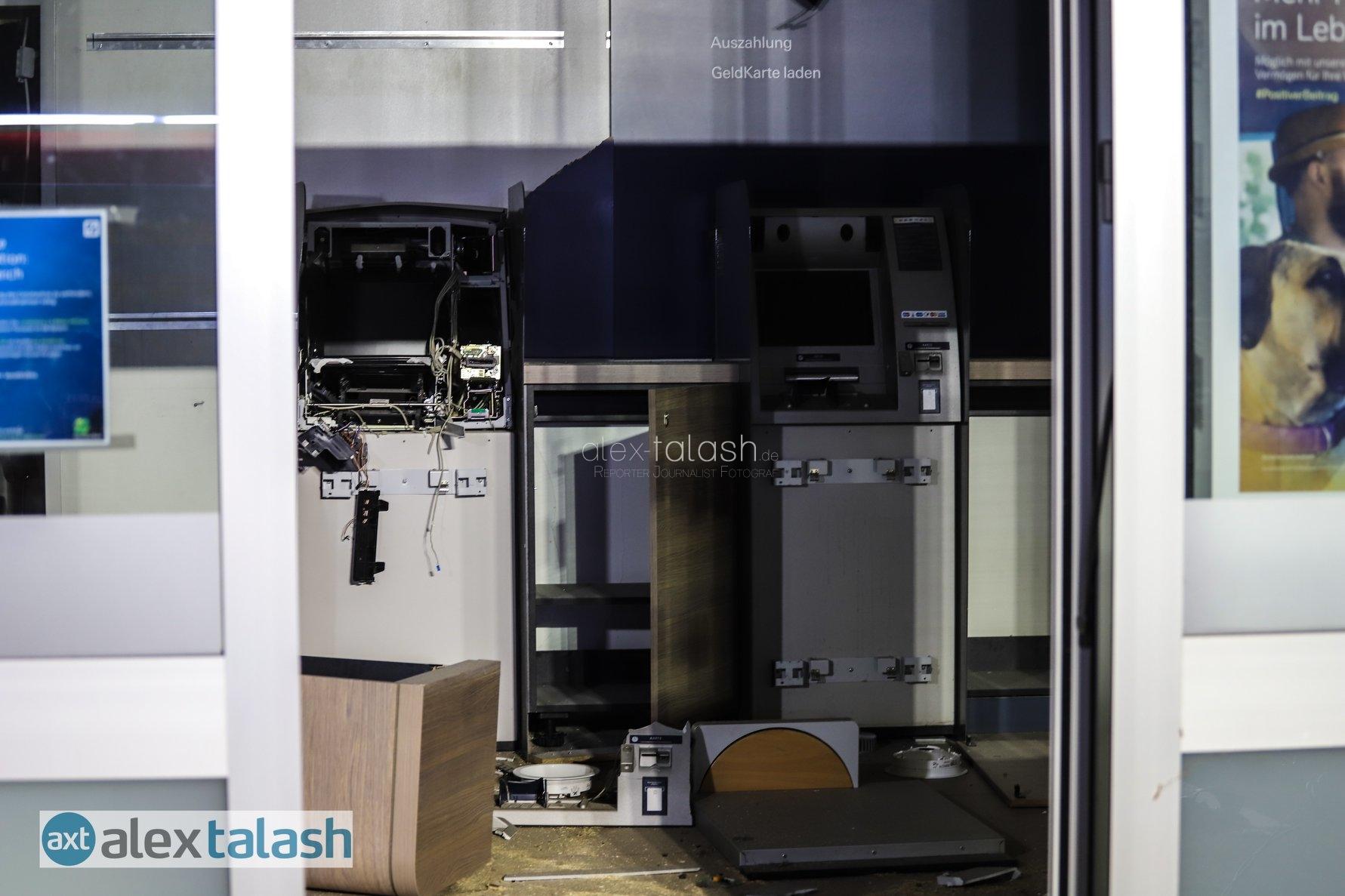 Spektakuläre Geldautomaten-Sprengung in Hagen