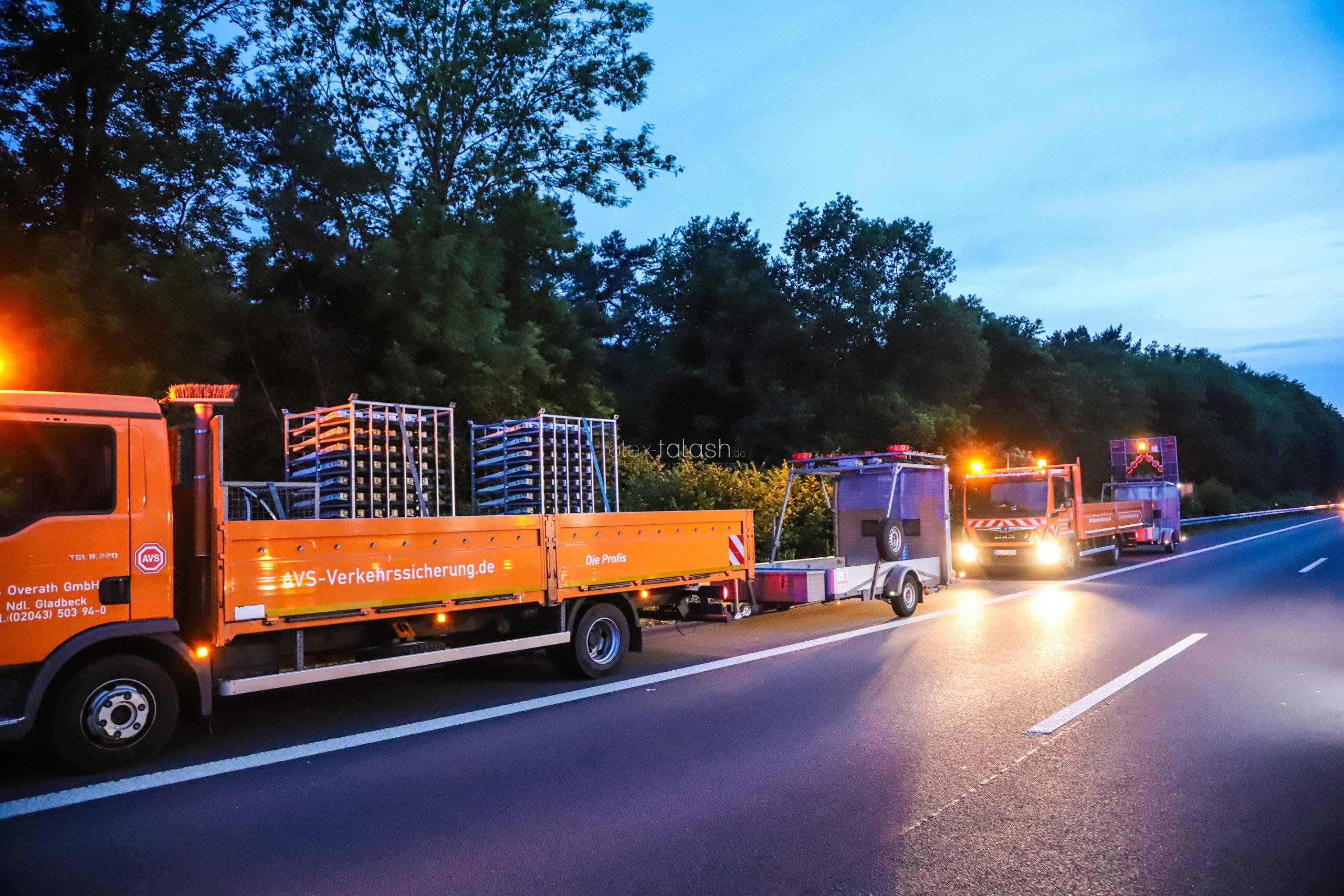 Arbeiter auf A45 bei Dortmund von Auto erfasst: Lebensgefahr