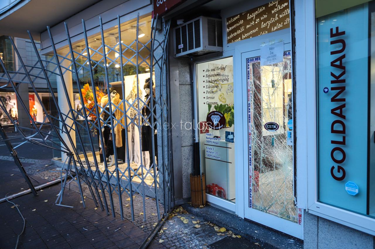 Blitzeinbruch in der Innenstadt: Juweliergeschäft Ercosman ausgeraubt