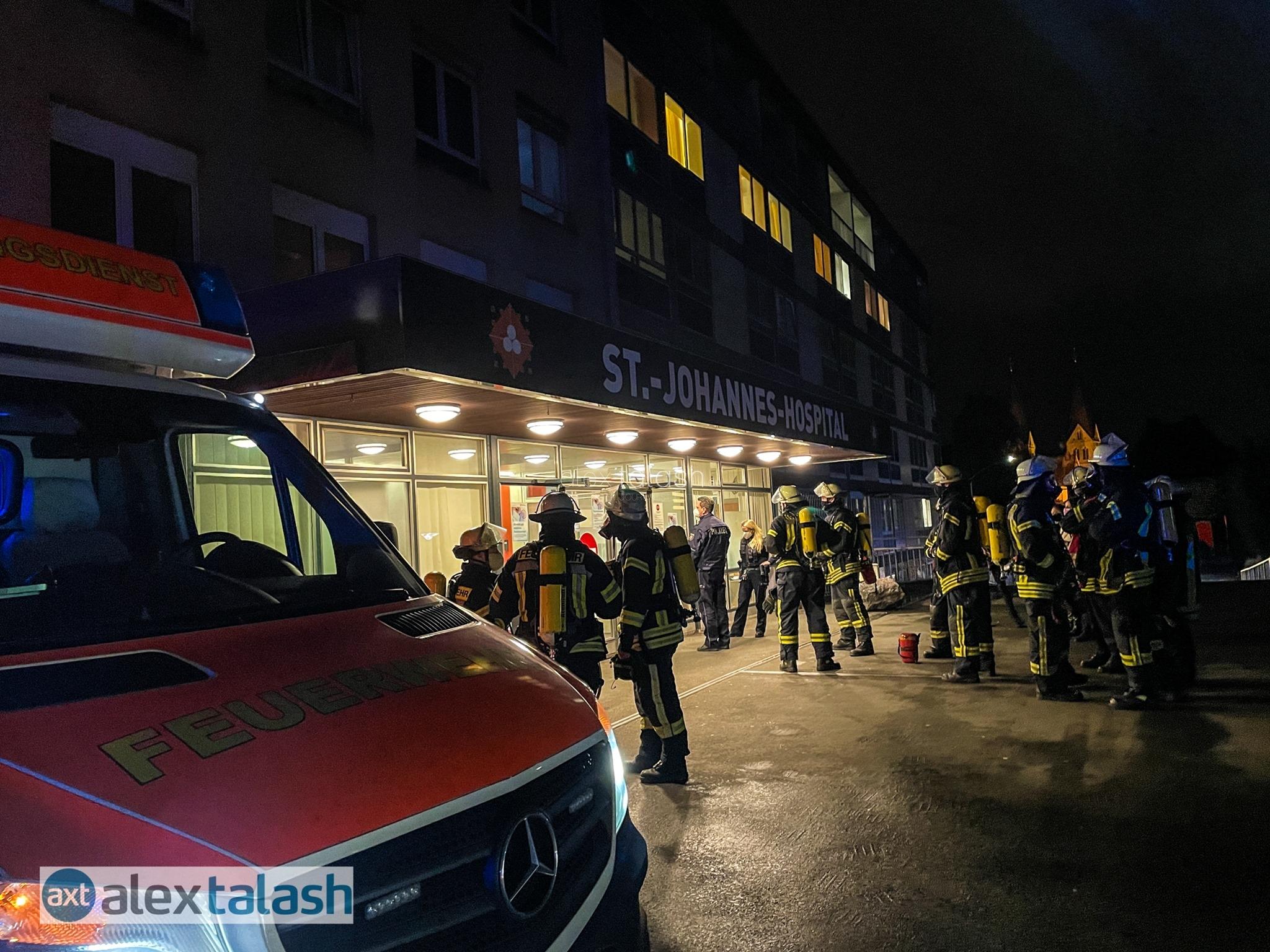 Feuer im Krankenhaus in Hagen: Pflegepersonal löscht Brand